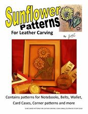 Sunflower Patterns for Leather Carving by Jim Linnell (Leathercraft Designs)
