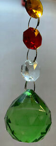 Crystal ball 30mm Suncatcher Window Hanging Rainbow Pendant Home Decor Garden(3)