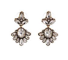 Fashion Crystal Resin Flower Chandelier Statement Dangle Stud Earrings P12