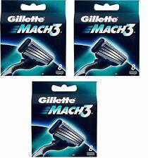24 Gillette Mach3 Rasierklingen/KLingen Mach3 24 stück NEU & ORIGINAL !! NEU
