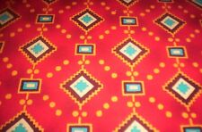 """New listing Michael Miller Diamonds and Dots southwestern salsa 100% cot 44"""" by the yard"""