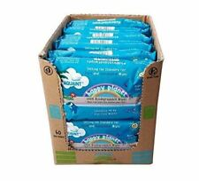 Happy Planet Baby Nappy Wipes 100 Biodegradable 0 Plastic 99.9 Water BULK X6