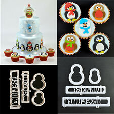 4pcs Penguin Plastic Fondant Cutter Cake Mold Fondant Cupcake Decorating Tools