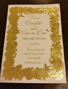 HALLMARK HAPPY ANNIVERSARY DAUGHTER & SON-IN-LAW card with envelope