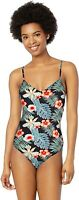 Roxy Women's 238854 Printed Beach Classic One Piece Swimsuit Size L