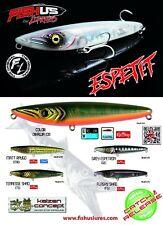 Fishus NEW Espetit Surface / Topwater Fishing Lure 9.5cm