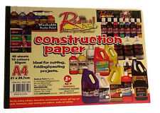 2x 40 Sheets A4 Craft Construction Paper 80gsm Cutting Folding Project 10 Colour