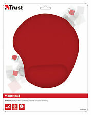 NEW TRUST 20429 BIGFOOT RED COMPUTER MOUSE MAT/PAD WITH GEL FILLED WRIST REST