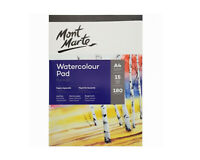 2x15 White Sheets Mont Marte Watercolour Pad A4 German Paper Atrist Painting