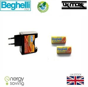 Beghelli Carica 500 3v 260mAh + Charger Cr2 Rechargeable Li-Ion(Lithium) Battery