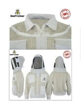 Unisex 3Layer Ultra Ventilated White Mesh Bee Jacket Astronaut Fencing Veil. XL