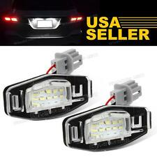 1set White LED License Plate Lights Lamp for Honda Accord Civic 12V