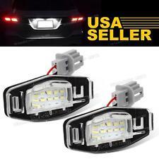 1set White LED License Plate Lights Lamp for Honda Accord Civic 12V