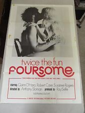 Vintage 1 sheet 27x41 Movie Poster Twice The Fun Foursome X Rated Sexploitation