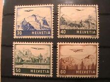 Switzerland Airmail stamps; MH; 8 stamps; 1941