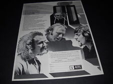 Crosby Stills & Nash for Altec Lansing original 1970 music biz Promo Advert mint