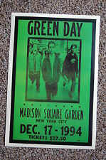 Green Day Concert Tour Poster 1994 Madison Square Gardens