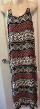 Ladies Long Maxi Dress Size Small Crinkle Rayon Boho Australia