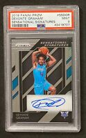 2018 Panini Prizm Devonte Graham Sensational Signatures Rookie RC Auto PSA 9🔥📈