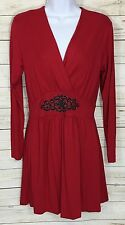 Marc Bouwer QVC Red Faux Wrap Midi Dress Size XS New With Tags