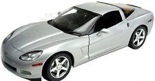 1:18 Hot Wheels Silver 2003 Corvette Coupe C6 Chevrolet Chevy