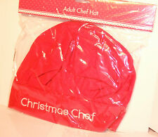 Red Adult Christmas Xmas Chef Hat Christmas Chef  Fancy Dress Novelty Santa Hat