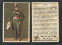 1890s E OZERE AUX ARTS ET METIERS 76 HOCHE FRENCH TRADE CARD