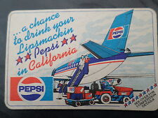 PEPSI WIN A HOLIDAY TO CALIFORNIA 1981 BEER MAT