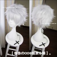 New Tokyo Ghoul Cosplay Wig Silver White Short Straight hair men's Wigs