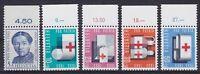 Schweiz Mi Nr 775 - 779 ** mit RWZ Reihenwertzähler, Pro Patria 1963, postfrisch