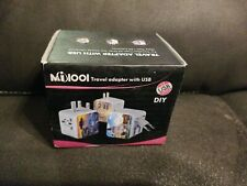 Universal All in One Worldwide Travel Adapter with Dual Usb Ports for Uk Eu Aust