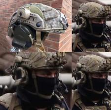 HIGoperator airsoft helmet + Z-Tac Comtacs rail adapters and Multicam mesh cover