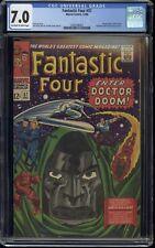 1966 Marvel Comics Fantastic Four Issue #57 Doctor Doom, Silver Surfer.. CGC 7.0