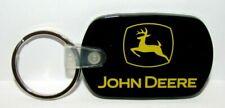 John Deere 2000 Upward Leaping Deer Trademark Logo Black Yellow Rubber Key Chain