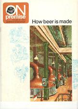 VINTAGE 1972 SCHLITZ BEER MAGAZINE! 'HOW BEER IS MADE'! IN COLOR! FLOWCHART! 12P