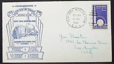 US Railway Post Office CAR Exhibit cachet COVER NY World 's Fair USA lettera (y-132