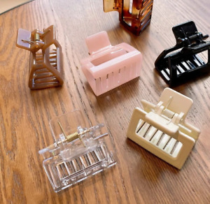 1Piece Square Acetate Acrylic INS Korean Hair Clips Girls Hairpins Crab Claws