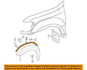 TOYOTA OEM 05-07 Sequoia Fender-Wheel Flare Gasket Seal Pad 756250C010B0