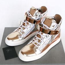 GIUSEPPE ZANOTTI Homme mirror metallic gold London shoes sneakers 39-IT/6-US NEW