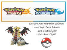 Pokemon Ultra Sun and Moon Summer 2013 Event Shiny Giratina Event Pokemon