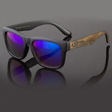 Classic Retro Womens Men Eyewear Sunglasses Faux Wood Reflective Color Lens