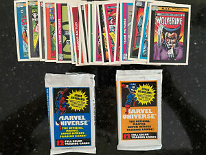 1990 Marvel Universe series 1 lot of 49 cards (2 open packs+) Black Panther, etc