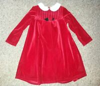 GOOD LAD Fully Lined Red Velvet Long Sleeved Dress Girls Size 4 NEW