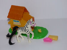 Vintage Kenner Littlest Pet Shop Zoo Baby Zebra Complete
