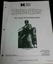 Data East Robocop Pinball Machine special technical Manual- used copy 40 pages