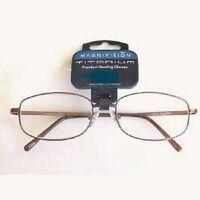 (2 PACK)  Foster Grant Magnivision Titanium Reading Glasses (T6) Choose Strength