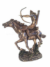 Native American Mohican Warrior On Horseback Statue Sculpture Figurie
