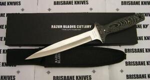 "RAZOR BLADES ""RAZOR BACK"" MICARTA PIG STICKER BOWIE HUNTING BOAR DAGGER KNIFE2ND"