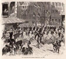 PARIS ? RUE ST HONORE TAMBOURS GARDE IMPERIALE EN 1807 IMAGE1881 PRINT