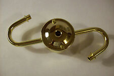 LAMP CLUSTER ARM 2 LITE S-ARM STEEL BRASS PLATED LAMP PART NEW 56882J